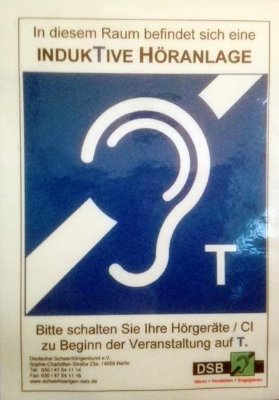 Hinweis Höranlage